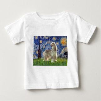 星明かりの夜-アフガンハウンド(クロテン) ベビーTシャツ