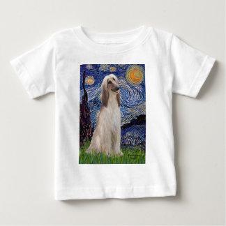 星明かりの夜-アフガンハウンド(坐らせて下さい) ベビーTシャツ