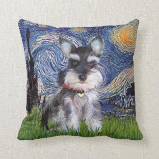 星明かりの夜-シュナウツァーの子犬#10 クッション