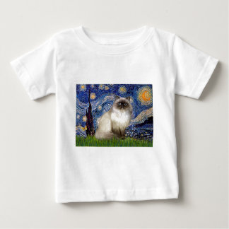 星明かりの夜-ヒマラヤ猫7 ベビーTシャツ