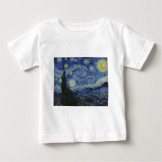 星明かりの夜、フィンセント・ファン・ゴッホ著1889年 ベビーTシャツ