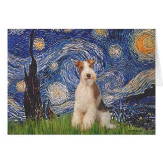 星明かりの夜-ワイヤーフォックステリア犬3 カード