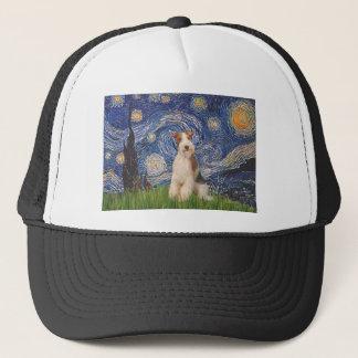 星明かりの夜-ワイヤーフォックステリア犬3 キャップ