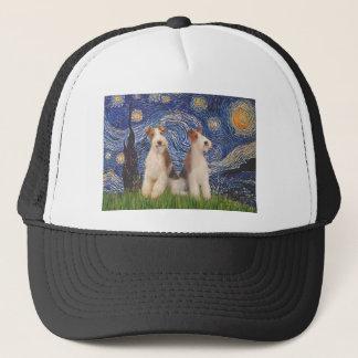 星明かりの夜-二線式のフォックステリア犬 キャップ