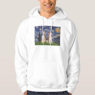 星明かりの夜-二線式のフォックステリア犬 パーカ