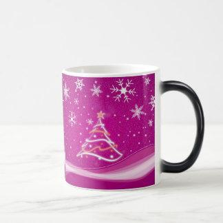 星明かりの夜-暗い赤紫色 モーフィングマグカップ