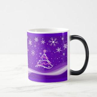 星明かりの夜-紫色 モーフィングマグカップ