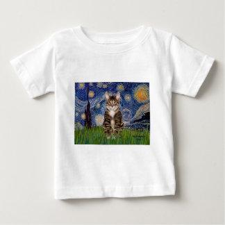 星明かりの夜-虎猫のトラネコ30 ベビーTシャツ