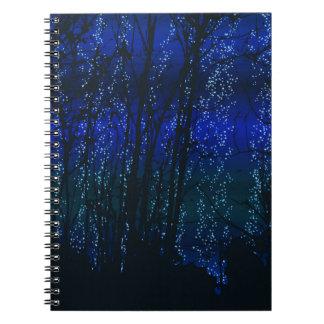 星明かりの夜(青い) ノートブック