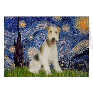 星明かりの夜- (m)ワイヤーフォックステリア犬 カード