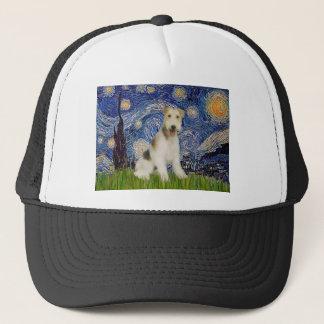 星明かりの夜- (m)ワイヤーフォックステリア犬 キャップ