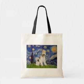 星明かりの夜- (m)ワイヤーフォックステリア犬 トートバッグ