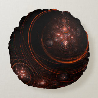 星明かりの抽象美術の円形の枕 ラウンドクッション