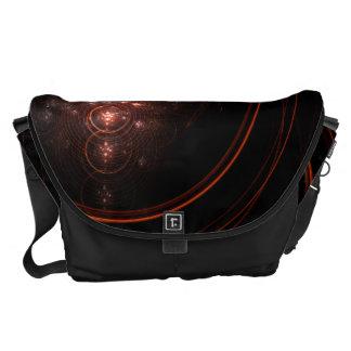 星明かりの抽象美術の大きいバッグ メッセンジャーバッグ