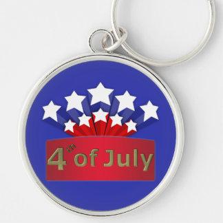 星明かりの独立記念日の金属Keychain キーホルダー