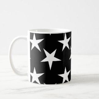 星明かりの白黒星 コーヒーマグカップ