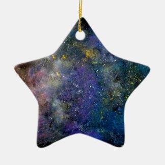 星明かりの空-オリオンか銀河の宇宙 セラミックオーナメント