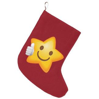 星明かりの親指はEmojiを持ち上げます ラージクリスマスストッキング