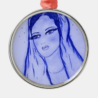 星明かりメリー-ブラシを乾燥して下さい青 メタルオーナメント