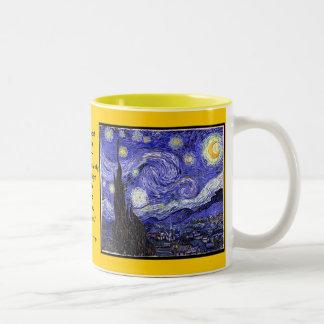 星明かり、星明かりの夜ギフトのマグ ツートーンマグカップ