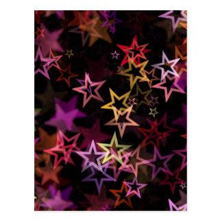 星明るい夜デザイン ポストカード