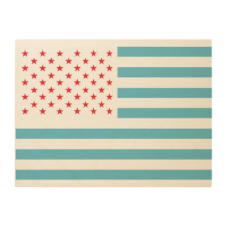 星条旗とのおもしろい ウッドウォールアート