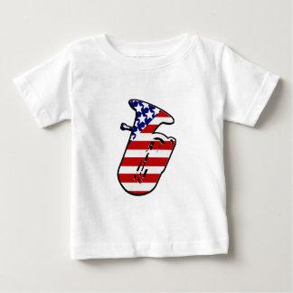 星条旗のテューバ ベビーTシャツ