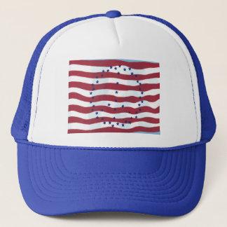 星条旗のピースサインの旗の帽子 キャップ