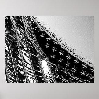 星条旗のボストン港 ポスター