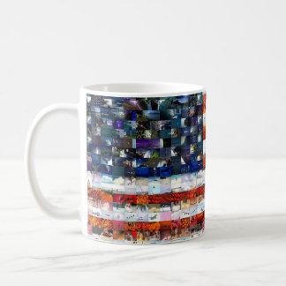 星条旗のモンタージュ コーヒーマグカップ