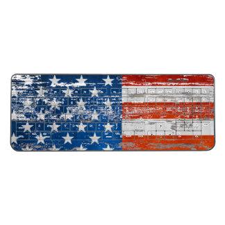 星条旗の動揺してな木製の米国旗 ワイヤレスキーボード
