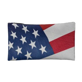 星条旗の化粧品のバッグ コスメティックバッグ