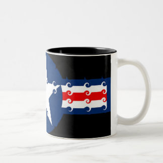 星条旗の渦巻 ツートーンマグカップ