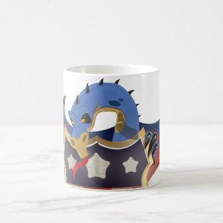 星条旗の盾を握る米国のドラゴン モーフィングマグカップ