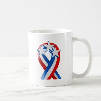 星条旗の米国旗のリボン コーヒーマグカップ