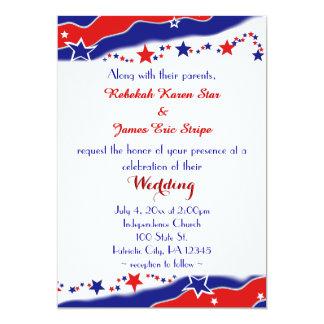 星条旗の結婚 カード