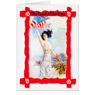 星条旗を振ること カード