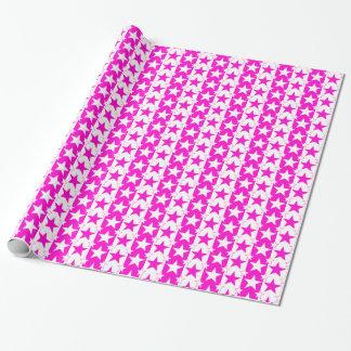 星条旗パターン2ピンク ラッピングペーパー