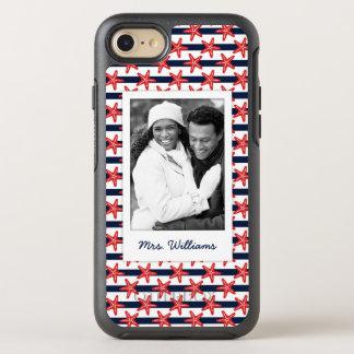 星条旗パターン あなたの写真及び名前 オッターボックスシンメトリーiPhone 8/7 ケース
