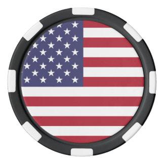 星条旗赤い白いおよび青旗賞 ポーカーチップ