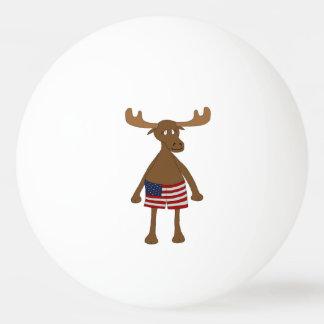 星条旗、か。 卓球ボール
