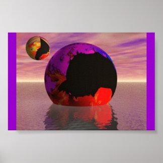 星状の間欠泉の衝突 ポスター