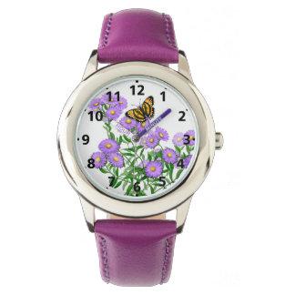 星状体のフラワー・ガールの腕時計の蝶 腕時計