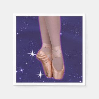 星間のバレリーナポイント靴 スタンダードカクテルナプキン