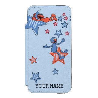 星間のElmoそしてグローバーは|あなたの名前を加えます Incipio Watson™ iPhone 5 財布 ケース