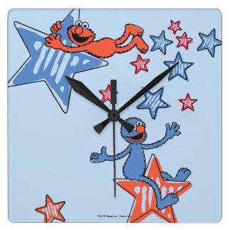 星間のElmoそしてグローバー スクエア壁時計