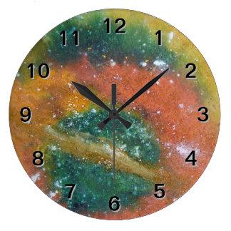 星雲および惑星 ラージ壁時計