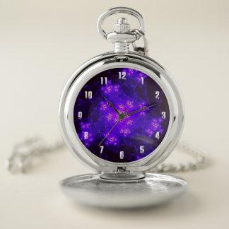 星雲のフラクタルの壊中時計 ポケットウォッチ