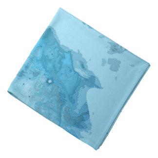 星雲の明るく青いバンダナ バンダナ
