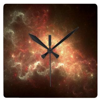 星雲の正方形の柱時計 スクエア壁時計